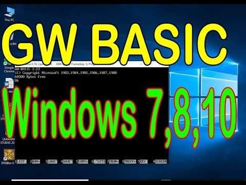 download and run gw basic for windows 7, 8, 10