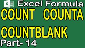 COUNTA COUNTBLANK in Excel in Hindi Urdu Part 14