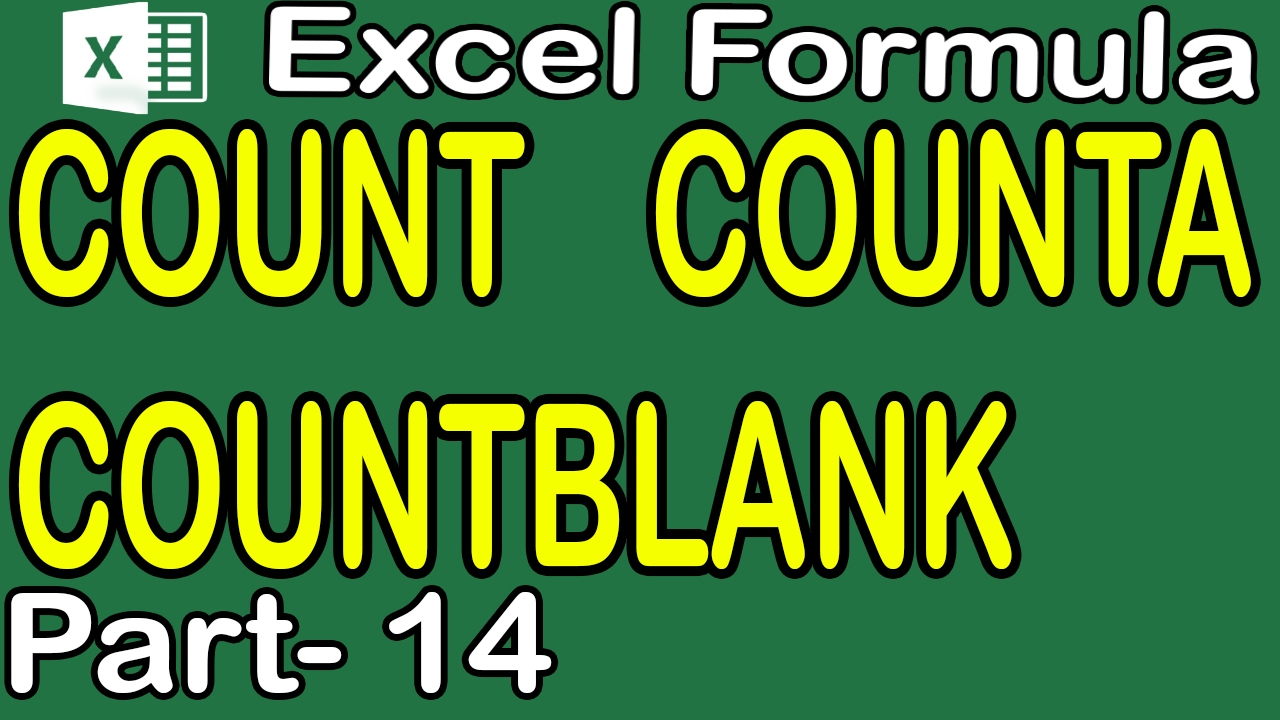 COUNTA COUNTBLANK in Excel in Hindi Urdu Part 14