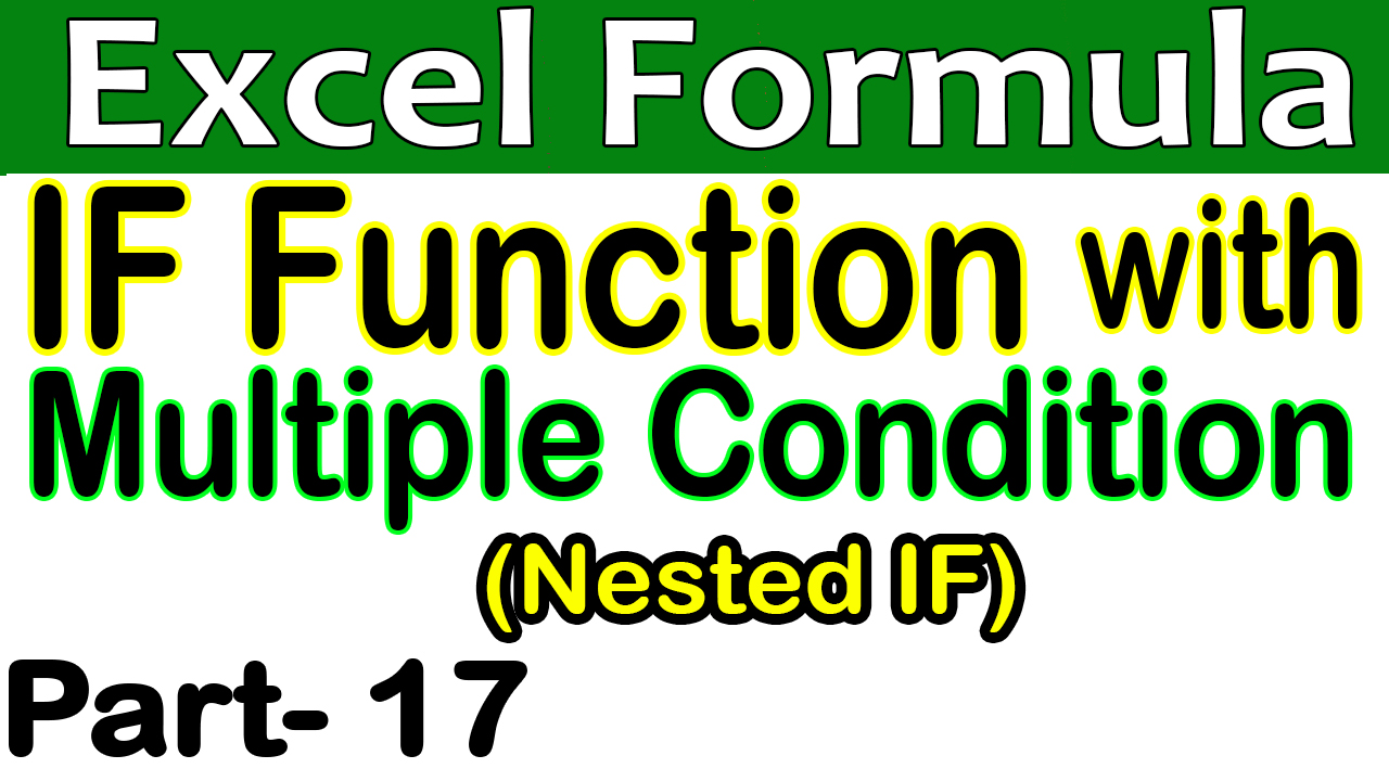 MS Excel IF Function with Multiple Conditions (Nested IF) in Hindi Urdu Part 17
